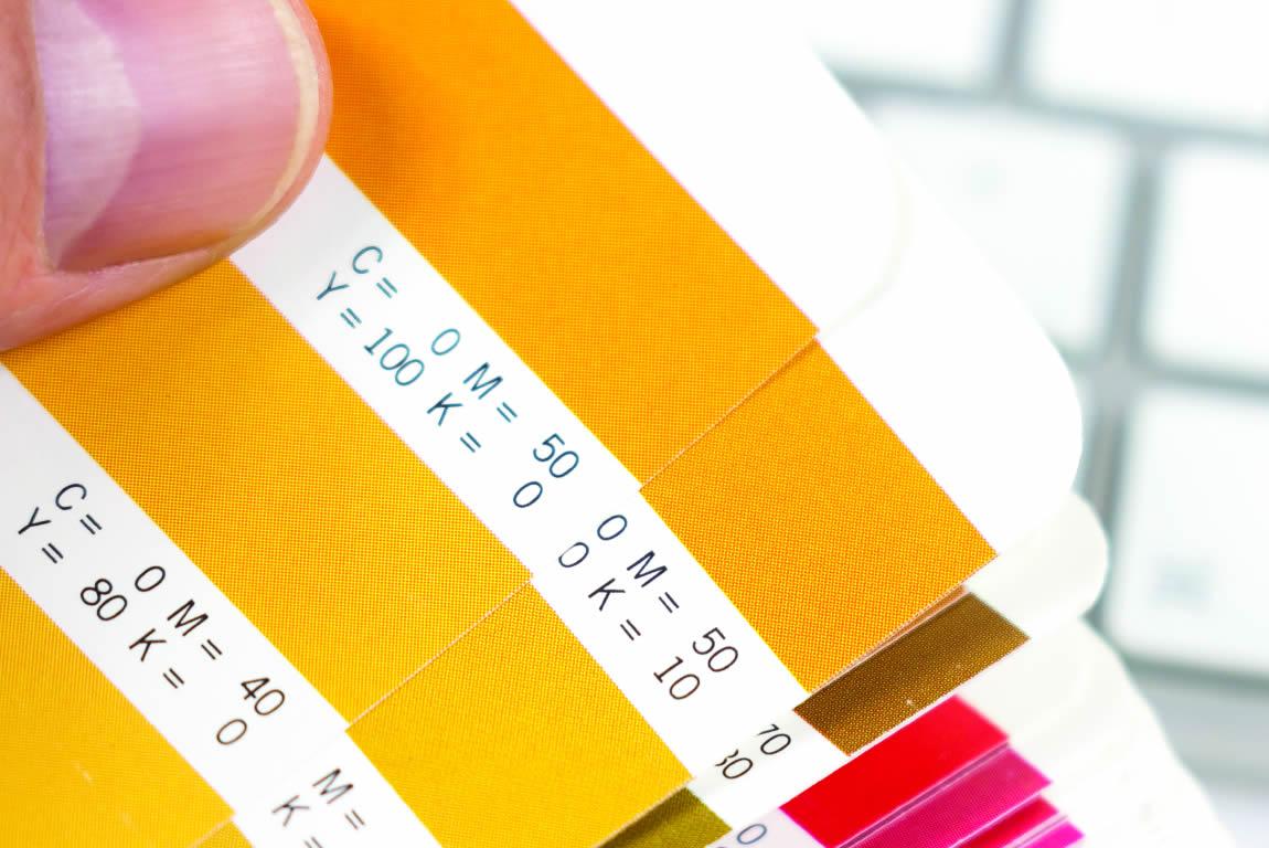 pantone PMS colour swatch